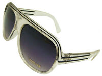 NEW UV400 MILLIONAIRE AVIATOR SUNGLASSES CLEAR BLACK