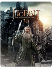 NEW-Ltd Edition Steelbook: Hobbit: The Desolation Of Smaug 3D/BluRay/UV (Sealed)