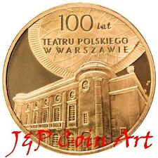 2013 Coin of Poland Polish 2zl Centenary of the Polish Theatre in Warsaw