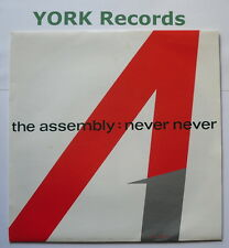 """ASSEMBLY - Never Never - Excellent Condition 7"""" Single Mute 7TINY 1"""