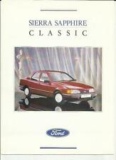 FORD SIERRA SAPPHIRE SPECIAL EDITION CLASSIC SALES BROCHURE 1989