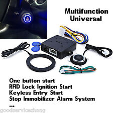 Car Engine Push Starter Keyless Entry RFID Lock Ignition  Start Stop Immobilizer