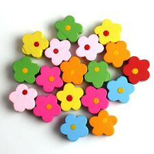 50PCS  Multicolor Flower Wooden Beads Jewellery Making Kits 110846 CY