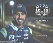2017 JIMMIE JOHNSON LOWES RACING 7X CHAMP 1 OF 2 MONSTER ENERGY NASCAR POSTCARD