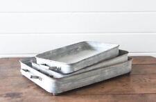 Galvanized Metal Box Tray~Medium~ French Country Farmhouse
