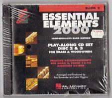 Essential Elements 2000 Play-along CD set. Discs 2 &3 For Brass & Woodwind