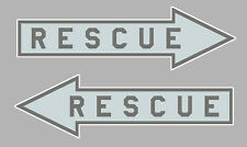 2 X RESCUE AIR FORCE USAF NAVY NATO OTAN RAF 150mm AUTOCOLLANT STICKER RA104