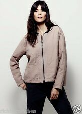 NWT Free People nude pink woven cotton Quilted Aviator Bomber Jacket S $148