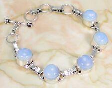 Opalite & 925 Silver Handmade Designer Bracelet 215mm & gift-box