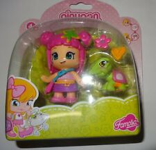 Pinypon Doll With Turtle Pink Hair Famosa Rare