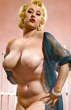 60s Nude Pinup Open Negligee  Immense Breasts 8 x 10 Photo