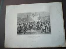 GRAVURE 1880  RENOUVELLEMENT D'ALLIANCE ENTRE LA FRANCE ET CANTONS SUISSES  1663