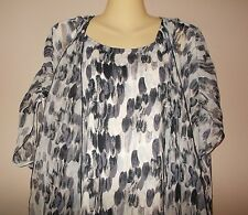 Nicola Womens Size S Mulit-Color Tank with Attached Semi-Sheer Blouse