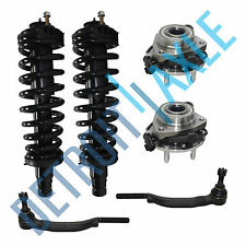 6pc Set 2 FRONT Wheel Hub Bearing w ABS + 2 Ready Strut + 2 Tie Rod AWD 4WD 16mm