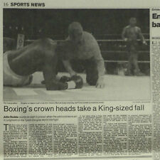 Boxing Mike Tyson Beaten By Buster Douglas 1990 Newspaper Photo Article 6091