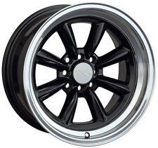 16X8 XXR 537 WHEELS 4X100/114.3 +20MM BLACK RIM FITS MAZDA MIATA VW JETTA FOX