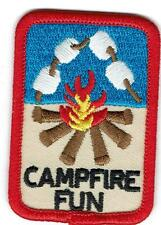Girl Boy Cub CAMPFIRE Bon Fire Marshmallows Patches Crest Badge SCOUT GUIDE camp