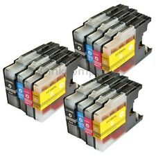 12 Cartucce Inchiostro Brother lc1240 XL PER DCP j525w j725dw j925dw MFC j430w j825dw