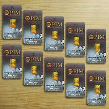 Weihnachtsgeschenk: 10x Goldbarren á 0,10 Gramm (PIM Gold Barren 1g Weihnachten)