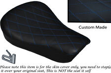 DIAMOND STITCH BLUE CUSTOM FITS HARLEY SPORTSTER 883 48 72 RIDER SEAT COVER