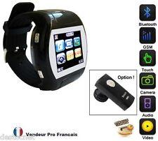 Montre Téléphone Mobile Ecran Tactile Camera Espion Photo MP3 MP4 Neuf  Débloqué