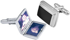 ONYX LOCKET CUFFLINKS STERLING SILVER 925 HALLMARKED NEW FROM ARI D NORMAN