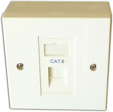 CAT6 1 modo dati rete OUTLET KIT, FACEPLATE, modulo, BACKBOX. LAN Ethernet