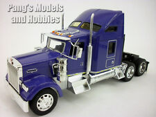 Kenworth W900 Blue Extended Cab Truck Diecast Metal 1/32 Scale Model