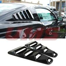 2005-2014 Ford Mustang 1/4 Quarter Black Side Window Louvers Scoop Cover Vent GT