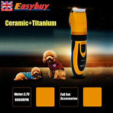 Cat Dog Pet Fur Hair Grooming Clippers Professional Cordless Electric Trimmer