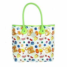 Candy Crush  White with Lime Trim Tote Bag