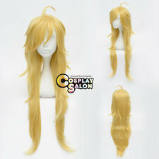 Long Layered Blonde Golden Panty and Stocking Panty Anime Cosplay Hair Wig+Cap