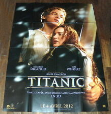 TiTANiC 3D (2012) Leonardo DiCaprio Cameron Kate Winslet LARGE French POSTER