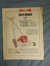 "Moto-Mower 18"" 21"" RIVIERA Gas Powered Lawn Mower Owners Manual (12-58)"