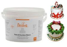 Pasta di zucchero bianca secchio secchiello 5 kg creazioni dolci pandoro natale