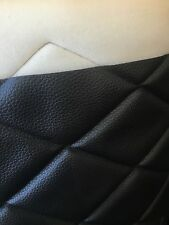 "BLACK QUILTED 6 BY 4 VINYL FABRIC WITH 3/8"" FOAM BACKING UPHOLSTERY BY THE YARD"