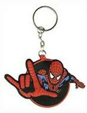 SPIDERMAN Rubber KEYCHAIN Marvel Comics NEW OFFICIAL MERCHANDISE Rare