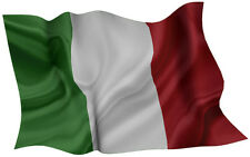 ITALY  FLAG DECAL 2014 STYLE SIZE 300MM BY 189MM