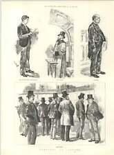 1890 bocetos de Lloyd's Underwriters Llamador camarero víctimas
