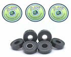 8 x BLACK SLIME ABEC 9 608 RS Skateboard Scooter Inline Skate Bearings 11