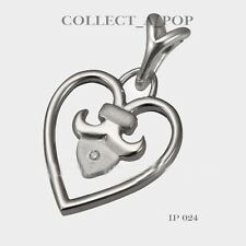 Authentic Kameleon Ice 925 Sterling Silver Ornate Heart Pendant  IP024