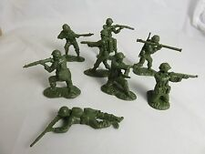 Classic Toy Soldiers U.S. GI's set #1, 16 figures in 8 poses 54mm green plastic