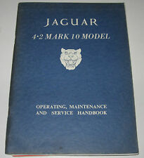 Operating Maintenance Jaguar 4.2 Mark 10 Model Service Handbook Handbuch!
