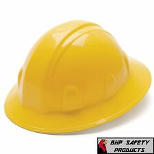 PYRAMEX HARD HAT YELLOW FULL BRIM WITH 4 POINT RATCHET SUSPENSION