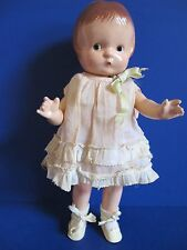 "Effanbee Patsy Jr. 1928, All Original Composition Doll, 11"", Antique Outfit, EXL"