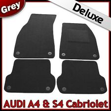 Audi A4/S4 Cabriolet (2001 2002...2007 2008) Tailored LUXURY 1300g Car Mats GREY