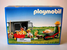 Retired Playmobil 3751~Rabbit Hutch & Pen~Bunnies Victorian Farm Farmer~NISB