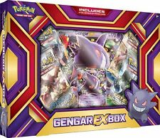 POKEMON CARDS XY GENGAR-EX  BOX  - 4 BOOSTER PACKS + PROMO + JUMBO CARD