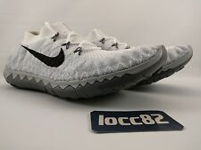 Nike Free Flyknit 3.0 sz 10 Men's (Women's sz 11.5) 636231-100 White Black Grey