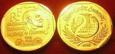 2 FRANCS DECLARATION UNIVERSELLE DES DROITS DE L'HOMME   1998  OR/GOLD PL